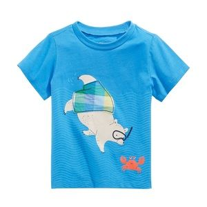 NWT First Impressions Blue Bear Crab T-Shirt 12mo